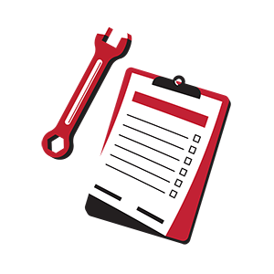 wrench and clipboard icon