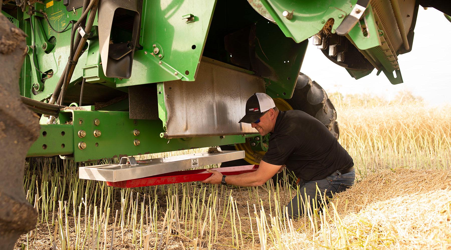 Jeremy installing equipment